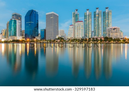 beautiful office buildings. Beautiful Office Building With Water Reflection During Twilight Beautiful Buildings