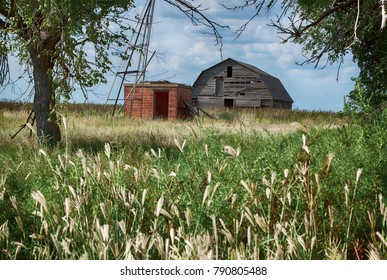 Beautiful old barn on Oklahoma farm