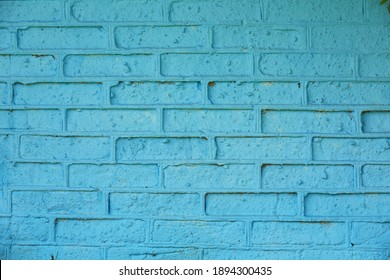 Beautiful old blue grounge brick wall texture or background.