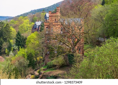 Beautiful old building in Miltenberg/Germany in the forest