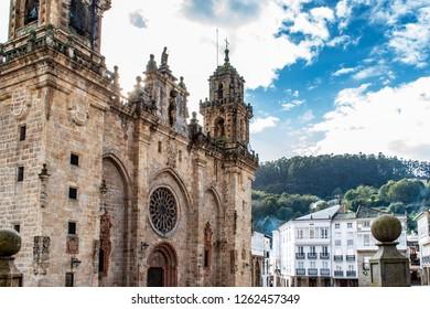 Beautiful old cathedral of Mondonedo, Galicia, Spain. Part of the Camino Norte, Camino de Santiago, Spain.