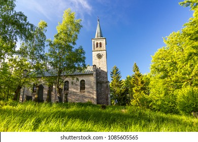 Beautiful old church in the green park