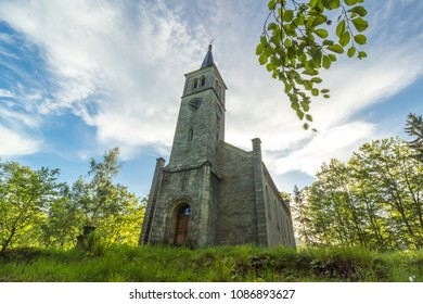 Beautiful old church and in the green trees