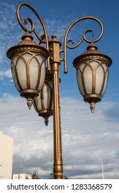 Beautiful old Colonial style street lamps in Kingston Jamaica