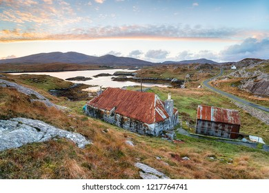 A beautiful old croft at Quidnish on the Isle of Harris in Scotland