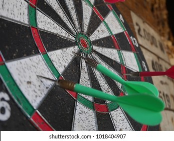 Beautiful old dartboard in beach bar