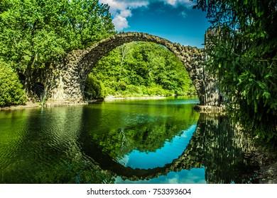 A beautiful old devils bridge
