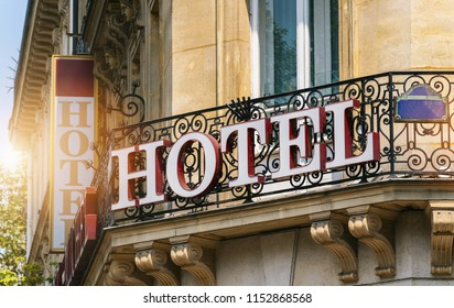 beautiful old hotel sign