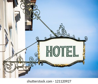 beautiful old hotel sign in vienna