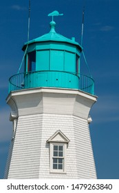 Beautiful old lighthouse at Port Dalhousie Harbour, St. Catharines, Ontario, Canada