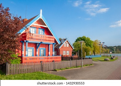 Beautiful old Lithuanian traditional wooden house in Nida, Lithuania, Europe