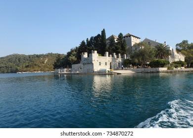 The beautiful old Monastery of Saint Mary, Mljet Island, Croatia, Europe