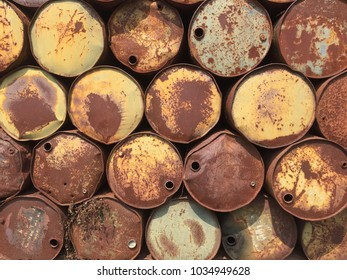 The beautiful  of old oil tank abstract background.