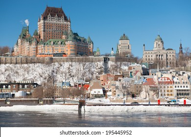 The beautiful Old Quebec City on a cold winter day, Quebec, Canada