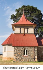 Beautiful old rural church on top of a hill