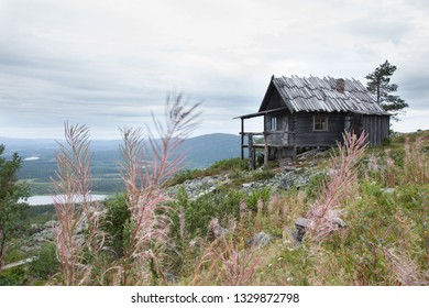 Beautiful old Santa Claus cabin on the top of Levitunturi fell on autumn. This cabin is near of ski slopes and it is very popular place for tourist to take photos while skiing and hiking