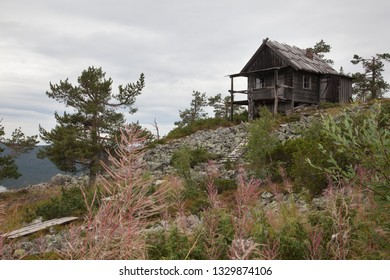 Beautiful old Santa Claus cottage on the top of Levitunturi fell on autumn. This cabin is near of ski slopes and it is very popular place for tourist to take photos while skiing and hiking