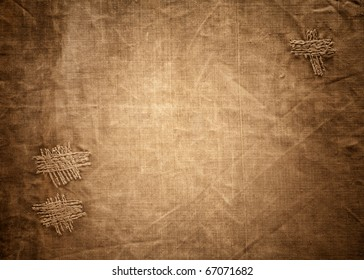 Beautiful old style canvas texture background