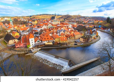 beautiful old town at Cesky Krumlov ,Czech