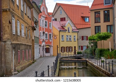 Beautiful old town in summer. Memmingen, Germany.