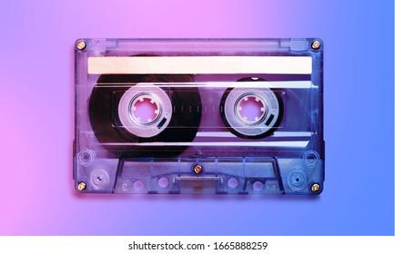 Beautiful old vintage audio cassette tape