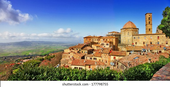 beautiful old Volterra - medieval town of Tuscany, Italy - i borghi più belli d'italia