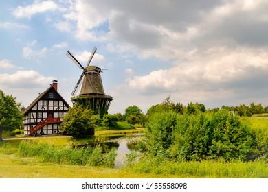 Beautiful old windmill on the Baltic Sea