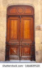 beautiful old wooden door in Spain
