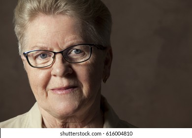 beautiful older women with glasses