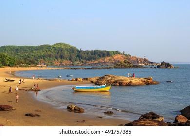 Beautiful Om Beach -  Gokarna, Karnataka, India.