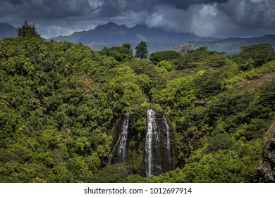 The beautiful 'Opaeka'a falls, a 151 foot waterfall on the island of Kauai, Hawaii