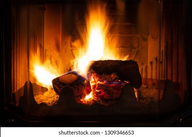 Beautiful open fire
