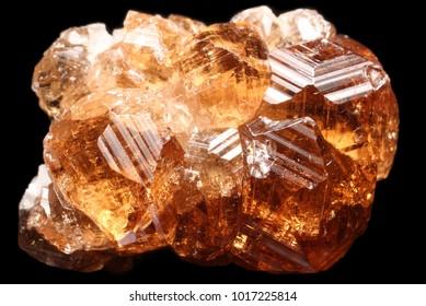 Beautiful orange Hessonite garnet Crystals from Asbestos Mine, Asbestos, Quebec, Canada