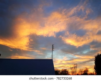 beautiful orange sky