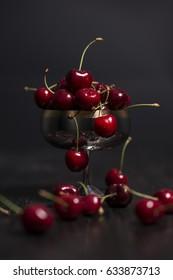 Beautiful organic heart cherries