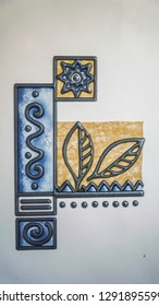 Beautiful ornate flagstone in a bathroom