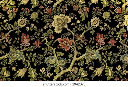 A beautiful, ornate floral pattern