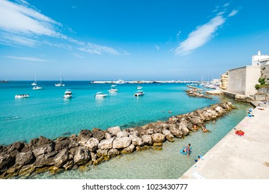 Beautiful Otranto bay, famous Italian city in Salento, Puglia