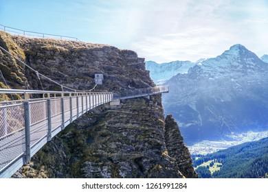 Grindelwald Switzerland 1 Dec 18 Blue Stock Photo (Edit Now
