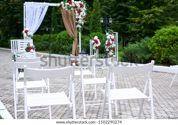 Beautiful Outdoor Wedding Decorations Arch Decorated