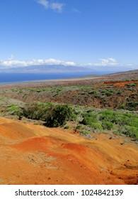 A beautiful overlook of Lanai.