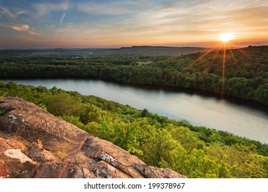 beautiful overlook vista at sunset