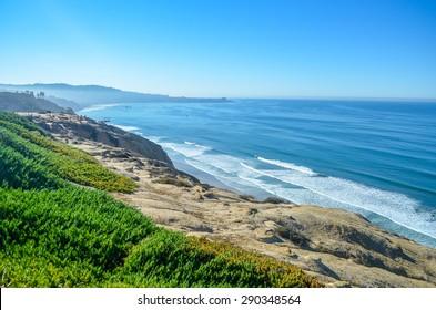 Beautiful Pacific coast, near Santa Barbara, California.