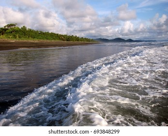 Beautiful Pacific Ocean coast of Colombia, South America