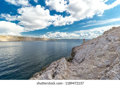 Beautiful Pag island sea landscape, Croatia