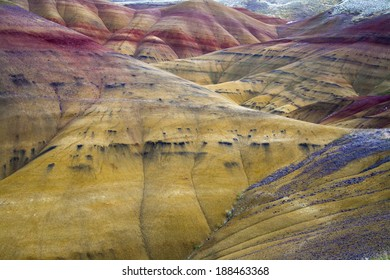 The beautiful Painted Hills in the John Day Fossil Beds Monument, Oregon