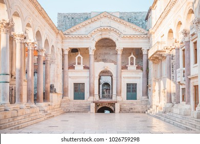 Beautiful palace built for the Roman Emperor Diocletian - Split city, Croatia