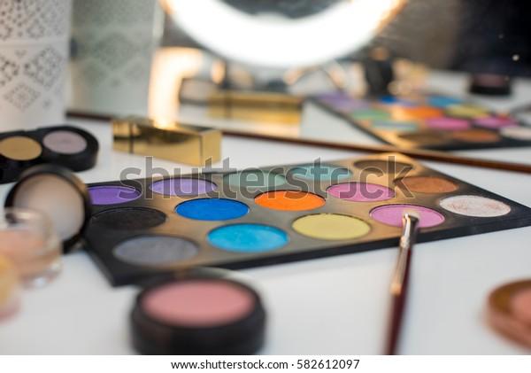 Beautiful palette professional makeup artist shadows.