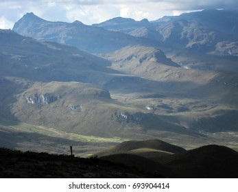 Beautiful panorama of Colombian Andes in South America
