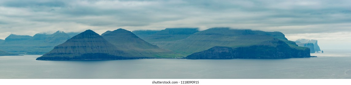 Beautiful Panorama Of Faroe Islands